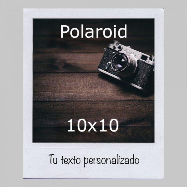 Polaroid 10x10 con texto
