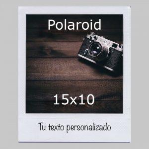 Polaroid 15x10 con texto