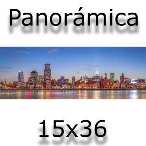 impresión panorámica 15x36